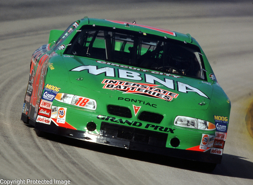 Bobby Labonte races through turn 2 during the Pennzoil 400 at Homestead-Miami Speedway in November 2000. (Photo by Brian Cleary)
