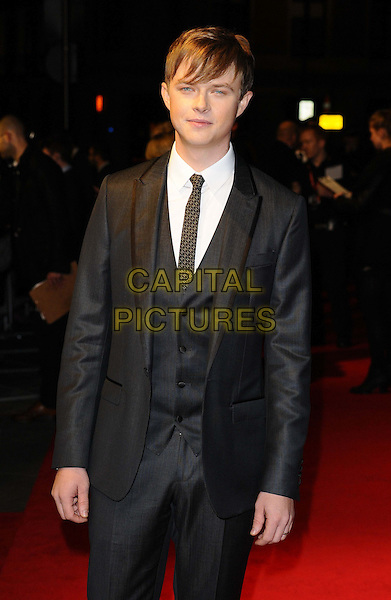 Dane DeHaan<br /> attended the &quot;Kill Your Darlings&quot; official competition gala screening, 57th BFI London Film Festival day 9, Odeon West End cinema, Leicester Square, London, England, UK, 17th October 2013.<br /> half length grey gray suit tie waistcoat <br /> CAP/CAN<br /> &copy;Can Nguyen/Capital Pictures
