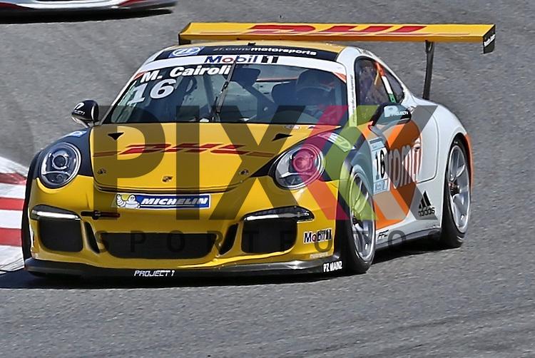 Barcelona, 10.05.15, Motorsport, Porsche Mobil 1 Supercup 2015 : Matteo Cairoli (Team Project 1, #16)<br /> <br /> Foto &copy; P-I-X.org *** Foto ist honorarpflichtig! *** Auf Anfrage in hoeherer Qualitaet/Aufloesung. Belegexemplar erbeten. Veroeffentlichung ausschliesslich fuer journalistisch-publizistische Zwecke. For editorial use only.