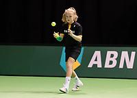Rotterdam, Netherlands, 11 februari, 2018, Ahoy, Tennis, ABNAMROWTT, Practise, Ballgirl <br /> Photo: Henk Koster/tennisimages.com