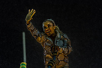 Rio de Janeiro (RJ), 22/02/2020 CARNAVAL - RJ - DESFILE - Desfile das escolas de samba Inocentes de Belfort Roxo, da Serie A, neste sabado (22), no sambodromo, no centro do Rio de Janeiro (RJ). Jogadora de futebol Marta homenageada pela escola. (Foto: Ellan Lustosa/Codigo 19/Codigo 19)