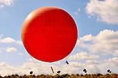Stock photo of large helium filled ballon