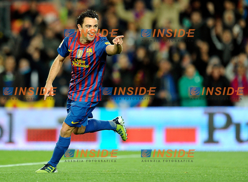 Xavi Hernandez (Barcellona) Esultanza.Barcellona 20/03/2012 Nou Camp.Football Calcio 2011/2012 Liga Spagnola.Barcellona Vs Granada.Foto Insidefoto / Paco Largo / Panoramic.ITALY ONLY