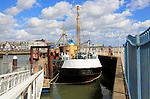 Mincarlo historic fishing trawler museum, Lowestoft, Suffolk, England, UK