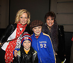 "Joe West, son of Maura West - As The World Turns' ""Carly"" and Young and Restless, makes his Broadway Debut as ""Ralphie"" in A Christmas Story The Musical and poses with his mom Maura and ATWT Colleen Zenk and castmate Luke Spring on November 21, 2012 at the Lunt-Fontaine Theatre, New York City, New York. (Photo by Sue Coflin/Max Photos)"