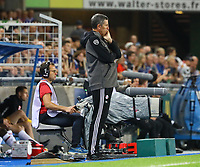 Trainer Thierry Laurey (Racing Club de Strasbourg Alsace) - 22.08.2019: Racing Straßburg vs. Eintracht Frankfurt, UEFA Europa League, Qualifikation, Commerzbank Arena<br /> DISCLAIMER: DFL regulations prohibit any use of photographs as image sequences and/or quasi-video.