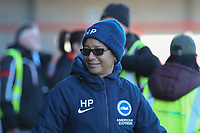 Brighton & Hove Albion Women manager Hope Powell during Brighton & Hove Albion Women vs Manchester United Women, SSE Women's FA Cup Football at Broadfield Stadium on 3rd February 2019