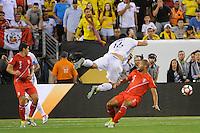 East Rutherford, NJ - Friday June 17, 2016: Alberto Rodriguez, Daniel Torres after a Copa America Centenario quarterfinal match between Peru (PER) vs Colombia (COL) at MetLife Stadium.