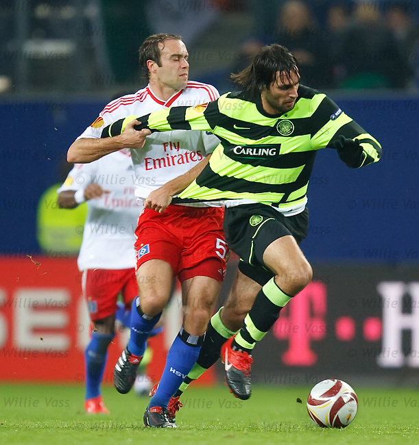 Georgios Samaras gets tugged by Joris Mathisjen