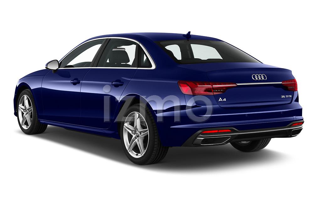 Car pictures of rear three quarter view of a 2020 Audi A4 Advanced 4 Door Sedan angular rear