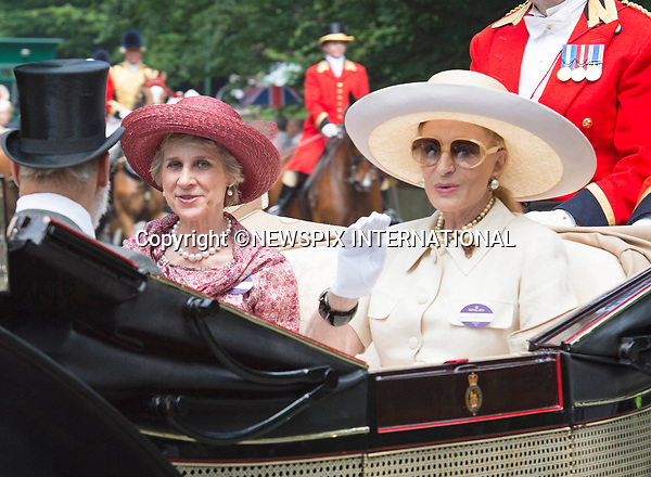 21.06.2017; Ascot, UK: PRINCESS MICHAEL OF KENT AND THE DUCHESS OF  GLOUCESTER<br /> travel in the royal procession to Royal Ascot.<br /> Mandatory Credit Photo: &copy;Dias/NEWSPIX INTERNATIONAL<br /> <br /> IMMEDIATE CONFIRMATION OF USAGE REQUIRED:<br /> Newspix International, 31 Chinnery Hill, Bishop's Stortford, ENGLAND CM23 3PS<br /> Tel:+441279 324672  ; Fax: +441279656877<br /> Mobile:  07775681153<br /> e-mail: info@newspixinternational.co.uk<br /> Usage Implies Acceptance of OUr Terms &amp; Conditions<br /> Please refer to usage terms. All Fees Payable To Newspix International