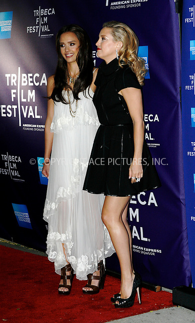 WWW.ACEPIXS.COM . . . . .  ....April 27 2010, New York City....(L-R) Actresses Jessica Alba and Kate Hudson arriving at the premiere of 'The Killer Inside Me' during the 2010 Tribeca Film Festival at the School of Visual Arts Theater on April 27, 2010 in New York City.....Please byline: NANCY RIVERA- ACEPIXS.COM.... *** ***..Ace Pictures, Inc:  ..Tel: 646 769 0430..e-mail: info@acepixs.com..web: http://www.acepixs.com