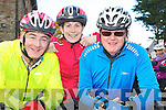 Michael Conroy, Niamh O'Connell and Myles O'Brien at Ava's charity cycle in Killorglin on Sunday. ............