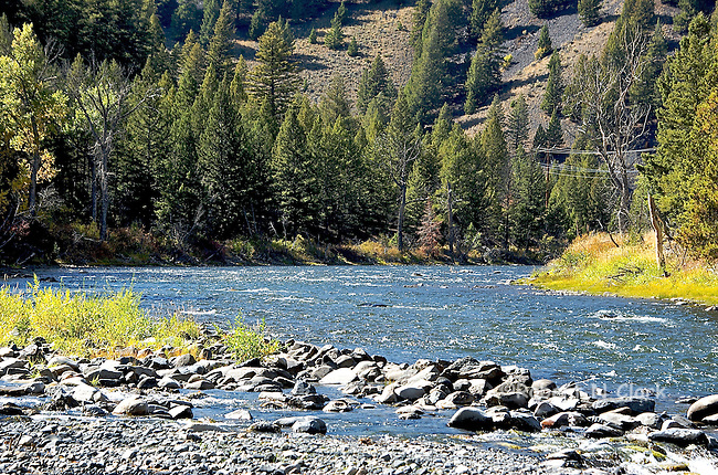Salmon River at confluence of Slate Creek