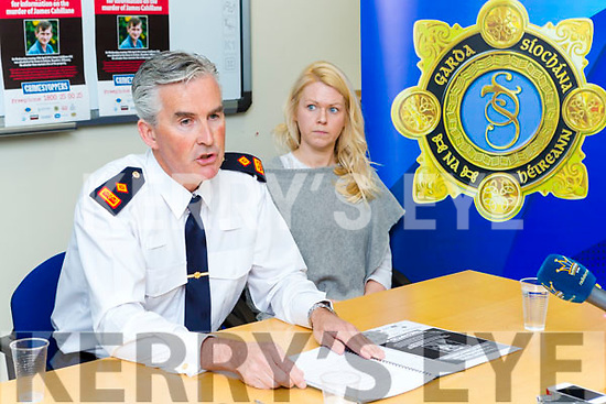 Killarney Chief Super Flor Murphy and the late James Cahillane daughter Lisa appeal for witnesses to come forward on the fifth anniversary of his murder in Beaufort