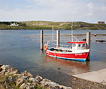 Small fishing boat at Northbay, Barra, Outer Hebrides, Scotland, UK