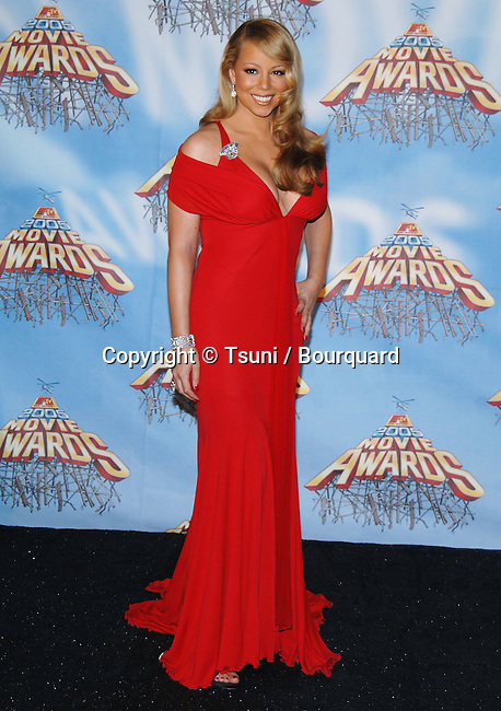 Mariah Carey at the MTV Movie Awards at the Shrine Auditorium in Los Angeles. June 4, 2005.