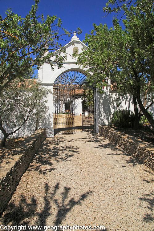 Entrance to courtyard of traditional farmhouse, Cortijo Cuevas del Marques,  Rio Setenil valley, Serrania de Ronda, Spain
