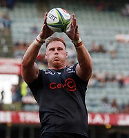 DURBAN, SOUTH AFRICA - APRIL 19: Jean-Luc du Preez of the Cell C Sharks during the Super Rugby match between Cell C Sharks and Reds at Jonsson Kings Park Stadium on April 19, 2019 in Durban, South Africa. Photo: Steve Haag / stevehaagsports.com