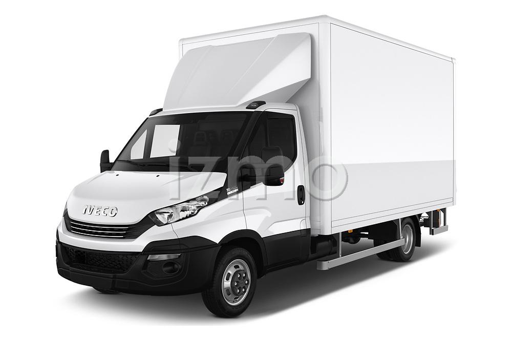 2018 Iveco Daily - 4 Door Cargo Van Angular Front automotive stock photos of front three quarter view