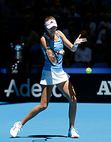 9th November 2019; RAC Arena, Perth, Western Australia, Australia; Fed Cup by BNP Paribas Tennis Final, Day 1, Australia versus France; Kristina Mladenivic of France plays a forehand shot