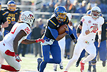 BROOKINGS, SD - NOVEMBER 11: Taryn Christion #3 from South Dakota State University breaks loose past Willie Edwards #20 from Illinois State during their game Saturday afternoon at Dana J. Dykhouse Stadium in Brookings. (Photo by Dave Eggen/Inertia)