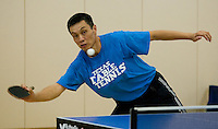 STANFORD, CA - AUGUST 10:  Men's and Women's Table Tennis, Ford Center, Stanford University.  MONDAY, AUGUST 10, 2009. PHOTO BY DON FERIA.