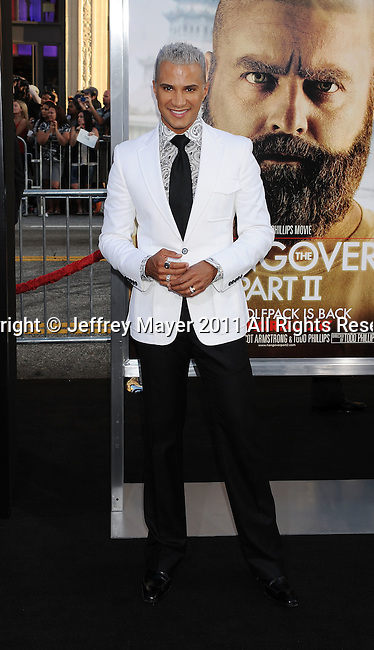 "HOLLYWOOD, CA - MAY 19: Jay Manuel arrives at the Los Angeles premiere of ""The Hangover Part II"" at Grauman's Chinese Theatre on May 19, 2011 in Hollywood, California."