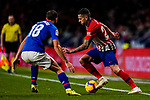 Victor Machin, Vitolo, of Atletico de Madrid (R) fights for the ball with Oscar de Marcos Arana of Athletic de Bilbao during the La Liga 2018-19 match between Atletico de Madrid and Athletic de Bilbao at Wanda Metropolitano, on November 10 2018 in Madrid, Spain. Photo by Diego Gouto / Power Sport Images