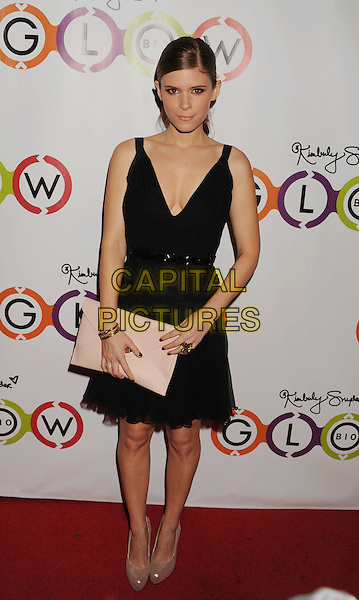 Kate Mara.The Opening of Kimberly Snyder's Glow Bio in West Hollywood in West Hollywood, California,.November 14th, 2012.full length dress black beige nude shoes clutch bag pink.CAP/ROT/TM.©Tony Michaels/Roth Stock/Capital Pictures