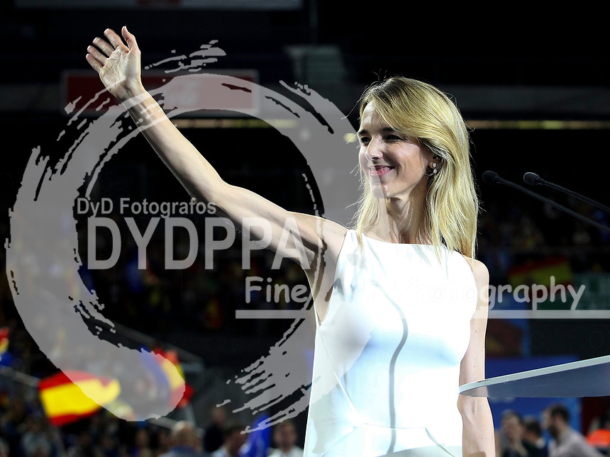 The closing of the campaign of the PP (Partido Popular) party, on Sunday the 28th are the general elections, at WiZink Center in Madrid on April 26, 2019.<br /> Cayetana Alvarez de Toledo