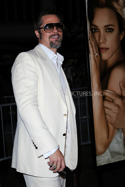 WWW.ACEPIXS.COM . . . . . ....August 12 2009, New York City....Executive producer Brad Pitt arriving at the premiere of 'The Time Traveler's Wife' at the Ziegfeld Theatre on August 12, 2009 in New York City.....Please byline: KRISTIN CALLAHAN - ACEPIXS.COM.. . . . . . ..Ace Pictures, Inc:  ..tel: (212) 243 8787 or (646) 769 0430..e-mail: info@acepixs.com..web: http://www.acepixs.com