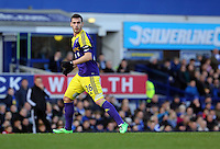 Pictured: Alvaro Vazquez of Swansea. Sunday 16 February 2014<br />