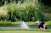 Alex Noren (SWE) hits out of a sand trap on the 17th hole during the first round of the 100th PGA Championship at Bellerive Country Club, St. Louis, Missouri, USA. 8/9/2018.<br /> Picture: Golffile.ie | Brian Spurlock<br /> <br /> All photo usage must carry mandatory copyright credit (© Golffile | Brian Spurlock)