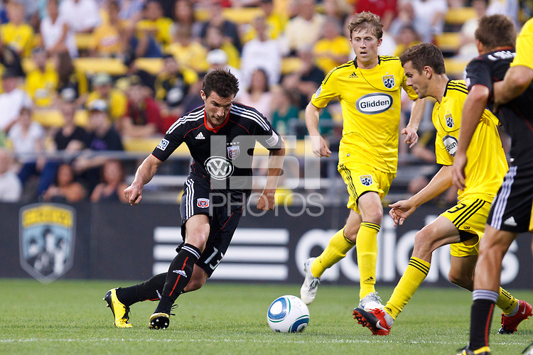 26 JUNE 2010:  Chris Pontius #13 of DC United during MLS soccer game between DC United vs Columbus Crew at Crew Stadium in Columbus, Ohio on May 29, 2010. The Crew defeated DC United 2-0.
