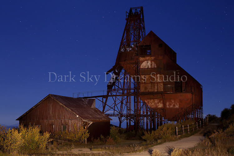 Nighttime at the Theresa Mine Ruins, Goldfield, Colorado