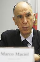 ATENCAO EDITOR: FOTO EMBARGADA PARA VEICULO INTERNACIONAL - SAO PAULO, SP, 11 NOVEMBRO 2012 - REUNIAO DO (COPS) E PLENARIA DA (ACSP)  - A Federaçao das Associaçoes  Comerciais do Estado de Sao Paulo (FACESP), recebeu nessa segunda feira em reuniao do Conselho Politico e Social (COPS), conjunta com a reuniao plenaria o prefeito de Sao Paulo Gilberto Kassab e o governador do estado da Bahia Jaques Wagner e contou com a presença de Marco Maciel (Foto), na sede da Associaçao Comercial de Sao Paulo na regiao da  Se no centro da cidade nessa segunda, 12 (FOTO LEVY RIBEIRO/BRAZIL  PHOTO PRESS)