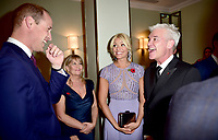 30 October 2017 - Prince William Duke of Cambridge with Holly Willoughby and Phillip Schofield and Wife Steph Stephanie at the Pride Of Britain Awards 2017 at The Grosvenor House Hotel London. Photo Credit: ALPR/AdMedia