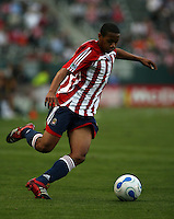 Chivas USA midfielder Bret Whitfield prepares to cross the ball. Chivas USA beat Real Salt Lake at the Home Depot Center 3-0 in Carson, Calif. on April 2, 2006.
