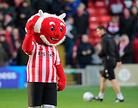 Lincoln City mascot Poacher the Imp<br /> <br /> Photographer Chris Vaughan/CameraSport<br /> <br /> Emirates FA Cup First Round - Lincoln City v Northampton Town - Saturday 10th November 2018 - Sincil Bank - Lincoln<br />  <br /> World Copyright © 2018 CameraSport. All rights reserved. 43 Linden Ave. Countesthorpe. Leicester. England. LE8 5PG - Tel: +44 (0) 116 277 4147 - admin@camerasport.com - www.camerasport.com