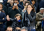 Antonio Conte's wife Elisabetta and daughter Vittoria during the champions league match at Stamford Bridge Stadium, London. Picture date 12th September 2017. Picture credit should read: David Klein/Sportimage