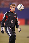 2 October 2004: DC United goalkeeper Troy Perkins before the game. DC United defeated the MetroStars 1-0 at Giants Stadium in East Rutherford, NJ during a regular season Major League Soccer game..