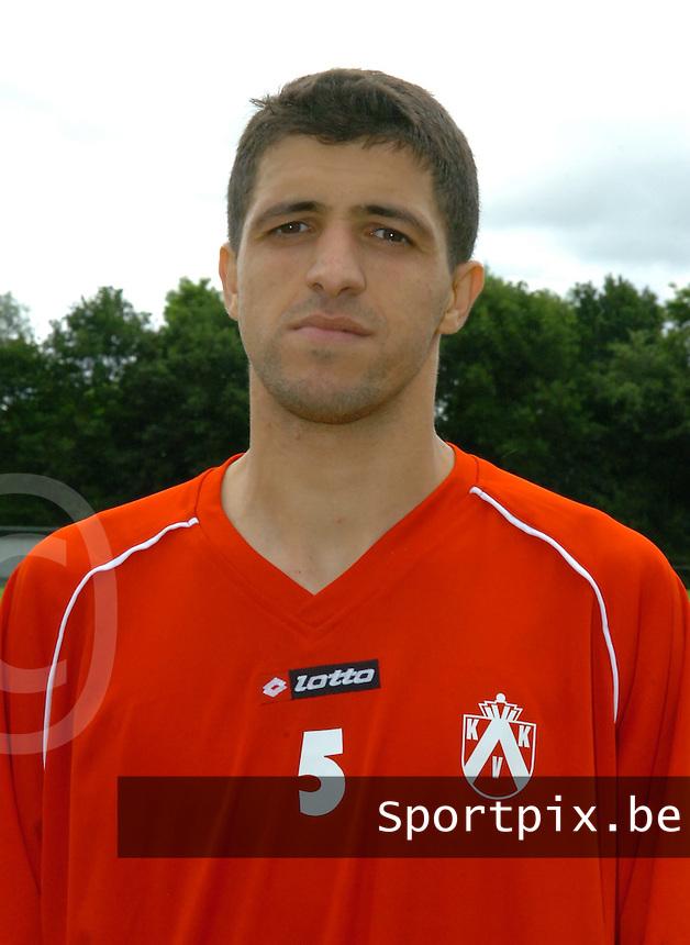 KV Kortrijk eerste training..Karim Belhocine..fotos DAVID CATRY/VDB