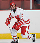 MADISON, WI - SEPTEMBER 29: Jasmine Giles #2 of the Wisconsin Badgers women's hockey team skates during warmups prior to the game against the Quinnipiac Bobcats at the Kohl Center on September 29, 2006 in Madison, Wisconsin. The Badgers beat the Bobcats 3-0. (Photo by David Stluka)