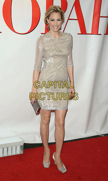 """LESLIE BIBB .World Premiere of """"Confessions of a Shopaholic"""" at the Ziegfeld Theatre, New York, USA, February 5th 2009..full length silver shimmery glittery dress shoes clutch bag sleeves gold .CAP/LNC/TOM.©LNC/Capital Pictures"""