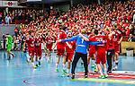 Eskilstuna 2014-05-12 Handboll SM-semifinal 3 Eskilstuna Guif - Alings&aring;s HK :  <br /> Eskilstuna Guif spelare jublar och dansar i en ring efter slutsignalen <br /> (Foto: Kenta J&ouml;nsson) Nyckelord:  Eskilstuna Guif Sporthallen Alings&aring;s AHK SM Semifinal Semi jubel gl&auml;dje lycka glad happy supporter fans publik supporters