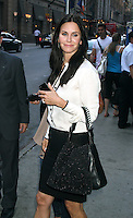 June 21, 2012 Courteney Cox at Good Morning America to talk about her TV series Cougar Town in New York City. © RW/MediaPunch Inc. NORTEPOTO.COM<br />