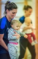 Francesca Dallape con la figlia Maya <br /> Bolzano 5-12-2018 <br /> Tania Cagnotto riprende gli allenamenti dopo il ritiro del 2017 <br /> Photo Pasquale Mesiano/ Deepbluemedia /Insidefoto