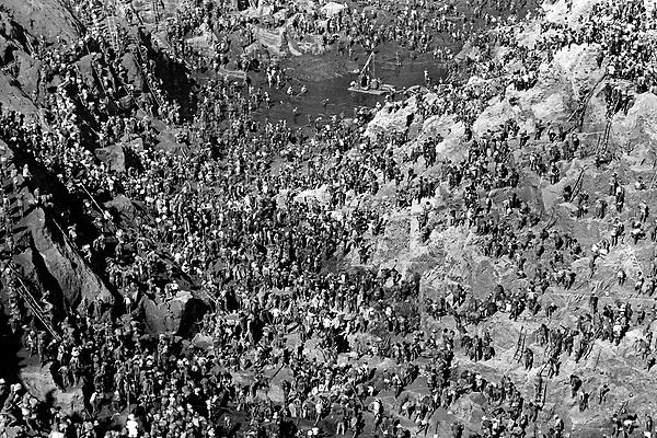 Garimpo de Serra Pelada.<br /> Marab&aacute;, Par&aacute;, Brasil.<br /> Foto L&uacute;cio Fl&aacute;vio Pinto.<br /> 1982