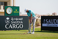 Victor Perez (FRA) on the 11th during Round 1 of the Saudi International at the Royal Greens Golf and Country Club, King Abdullah Economic City, Saudi Arabia. 30/01/2020<br /> Picture: Golffile | Thos Caffrey<br /> <br /> <br /> All photo usage must carry mandatory copyright credit (© Golffile | Thos Caffrey)